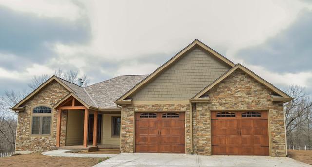 Craftsman custom home ridgley rustic exterior for Craftsman custom homes