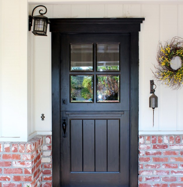 craftsman dutch door transitional exterior san