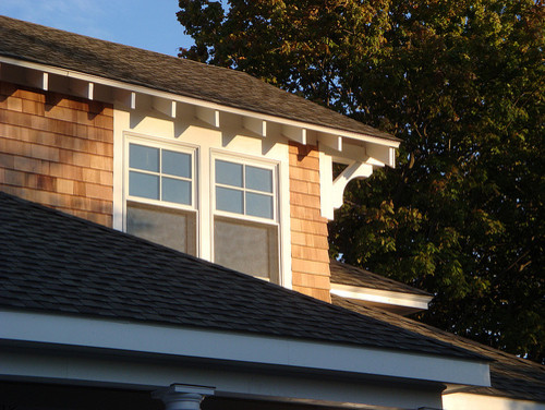 Craftsman Exposed Rafters - Traditional - Exterior - providence