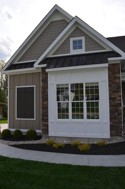 Metal Roof Bump Out Bay Window Trim Craftsman Exterior Cincinnati By Legendary Custom Homes