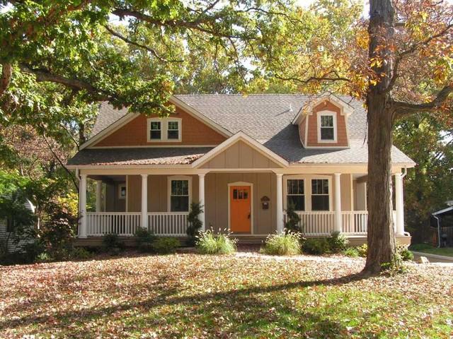 Craftsman front elevation for Craftsman home elevations