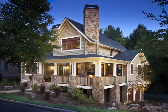 Craftsman home craftsman exterior other metro by for Craftsman wrap around porch