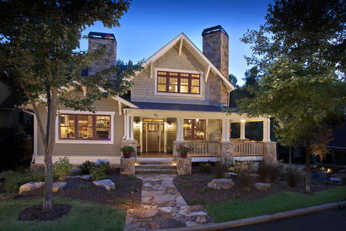 House envy craftsman style homes the blissful bee for Craftsman houses photos