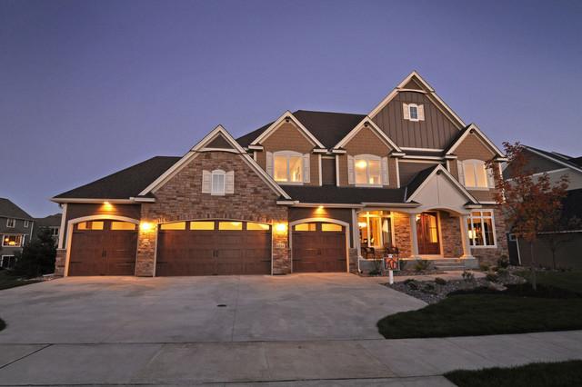 Craftsman home with indoor sports court craftsman for Home plans with indoor sports court
