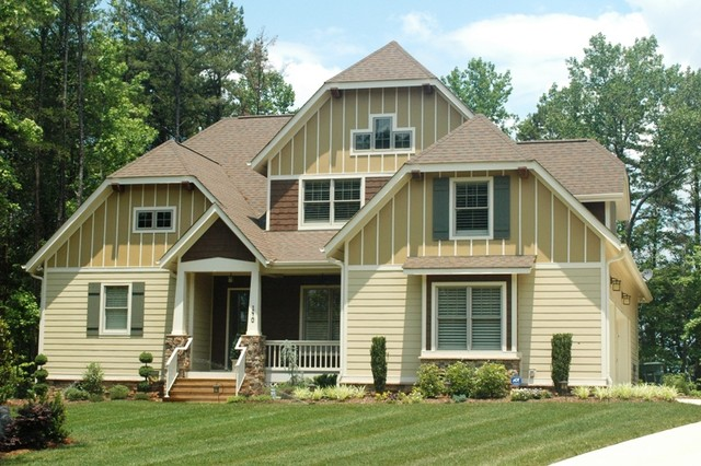 Craftsman house plans bungalow house plans craftsman exterior charlotte by elite design Craftsman home plans