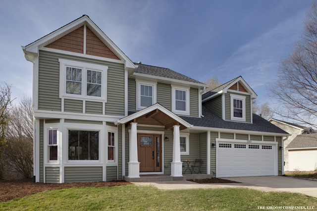 craftsman naperville exterior makeover contemporary exterior chicago by elevations