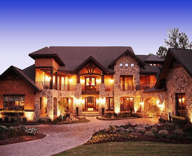 Craftsman style lodge house for Designing a custom home