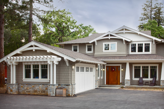 Craftsman style new home craftsman exterior san francisco by allwood construction inc - Craftsman home exterior ...