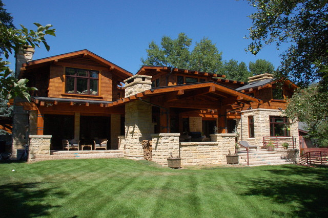 Craftsman style new house craftsman exterior denver for New american style house plans