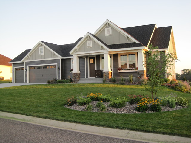 Craftsman style rambler craftsman exterior for Vision homes