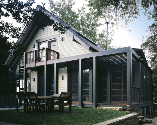 Craftsman teahouse craftsman exterior dc metro by for Light gray exterior paint