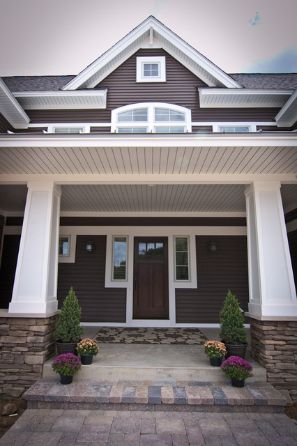 Craftsmen two story craftsman exterior grand rapids by troxel custom homes - Exterior plastic paint ideas ...
