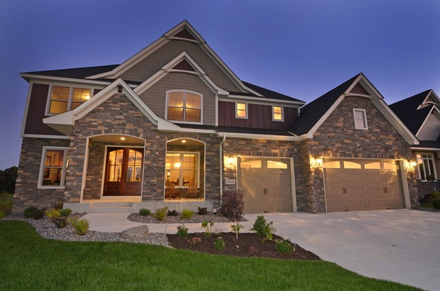 Creekside luxury homes traditional exterior for Luxury traditional homes