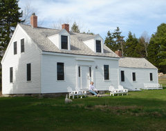 Crooked Cottage Charm Featured in Maine Home & Design farmhouse-exterior