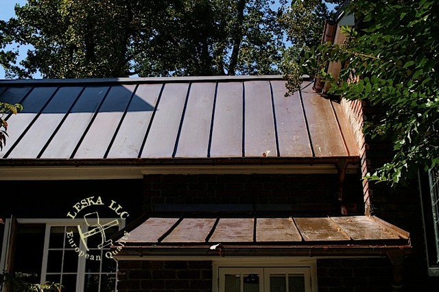 Crownsville copper roof standing seam traditional for Copper standing seam roof