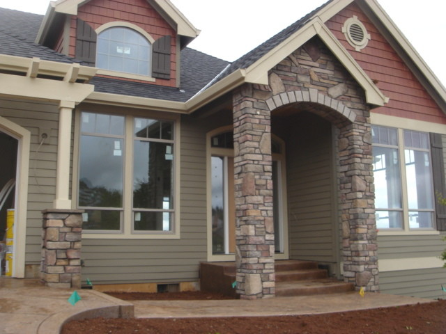 Cultured stone dundee traditional exterior for Exterior ledgestone