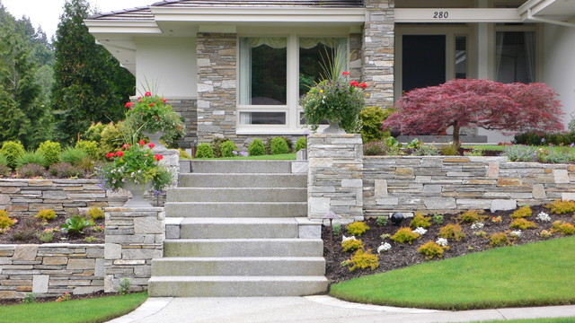Cultured Stone Walls : Cultured stone wall and facing contemporary exterior