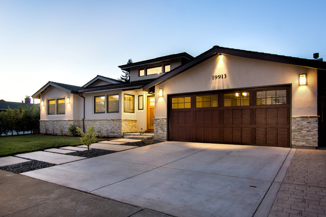Cupertino contemporary ranch addition remodel for Modern transitional house plans