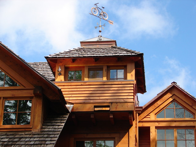 Cupola with Bicycle Weathervane traditional-exterior