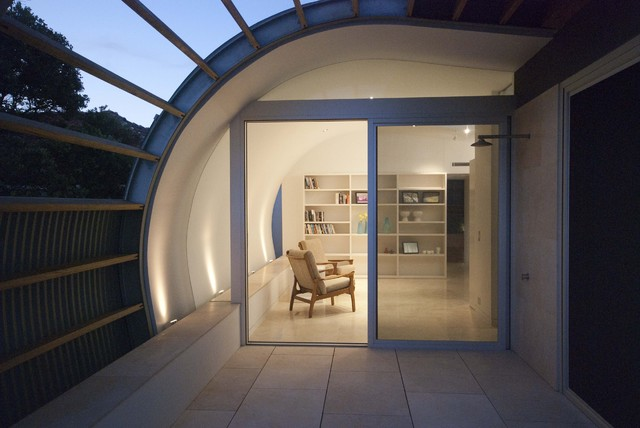 Curved roof of clovelly house sydney contemporary for Curved roof house designs