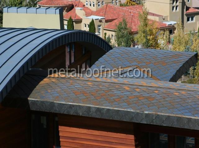 Curved Standing Seam Panel Amp Diamond Shingle Mix Modern