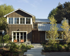 Custom Agrarian Style Residence transitional-exterior