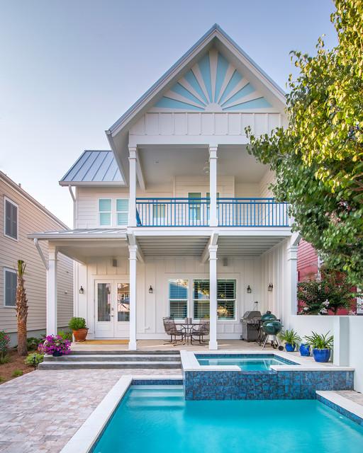Custom Aragon Residence Beach Style Exterior Atlanta By Dalrymple S