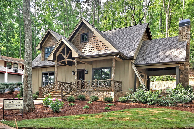 Spec house lake chatuge traditional exterior atlanta for Spec home builders