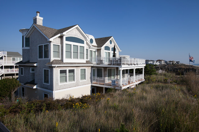 Custom Beach Homes, Long Beach Island, NJ, Jones Contracting, Inc. beach-style-exterior