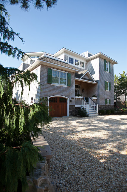 Custom Beach Homes, Long Beach Island, NJ, Jones Contracting, Inc. traditional-exterior
