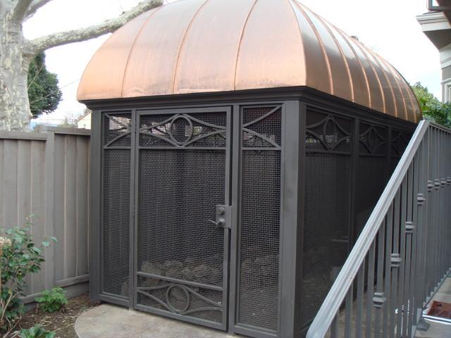 Custom bird aviary Exterior San Francisco by Brians Welding