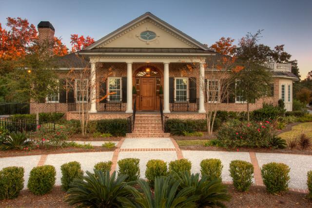 Custom built brick and stucco home for Stucco and brick homes