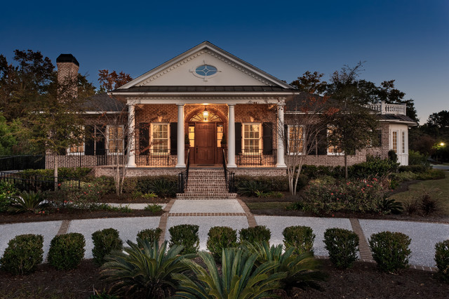Custom built brick and stucco home for Brick traditional homes