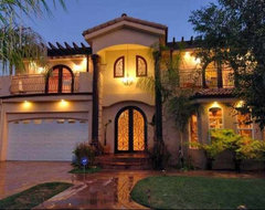 Custom Built Home. mediterranean-exterior