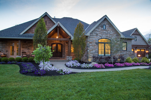 Custom Built Homes Rustic Exterior Cincinnati By