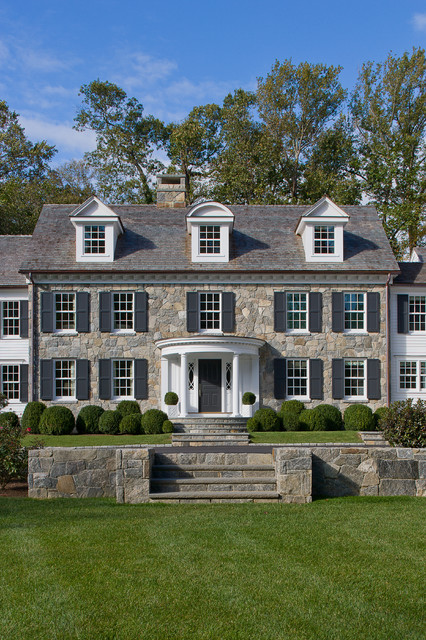 Custom colonial traditional exterior new york by for Custom colonial homes