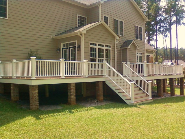 Custom Composite Deck on Brick Piers - Exterior - richmond - by Add A Deck, Inc.