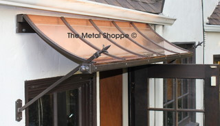 Custom Copper and Iron Window Awnings - Exterior - Los ...