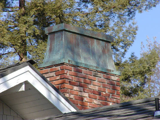 Custom Copper Chimney Top exterior