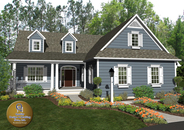 custom cottage home traditional exterior other by home plans in lititz pa quality design amp drafting services
