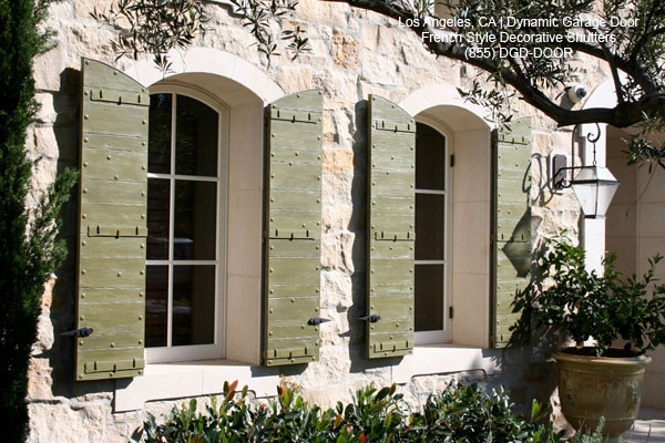 Custom Crafted Architectural Decorative Window Shutters Mediterranean Ext