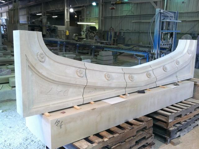 Custom Cut Lueders Limestone Carvings - Mezger