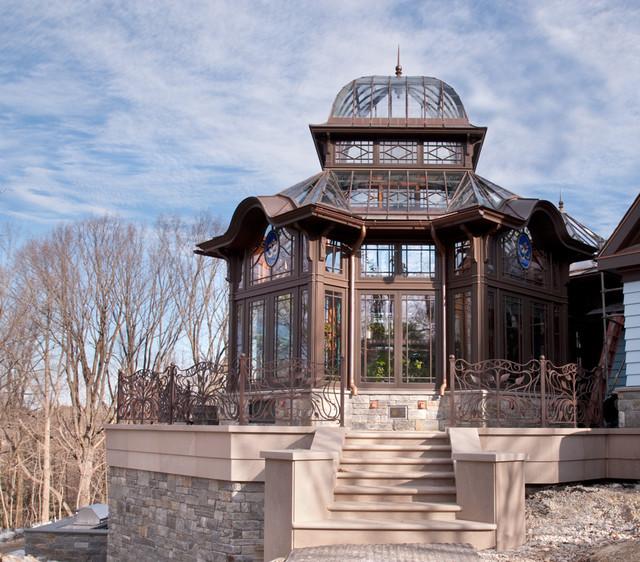 Custom-designed working greenhouse eclectic-exterior