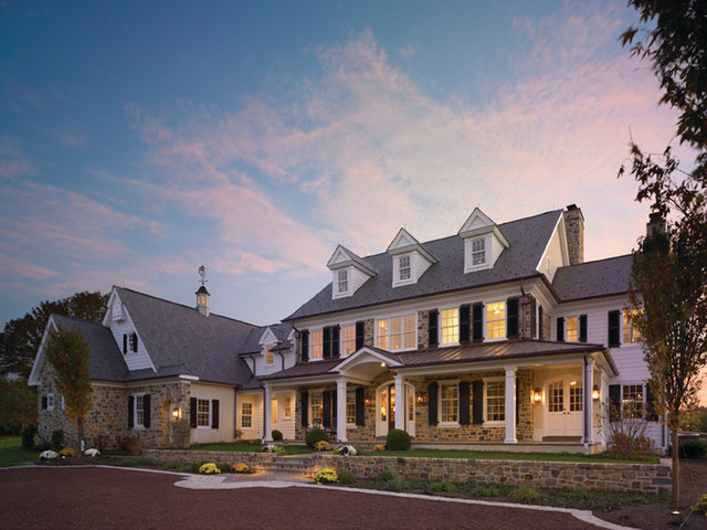 Custom home 2 traditional exterior philadelphia by r a hoffman architects inc Custom home designs