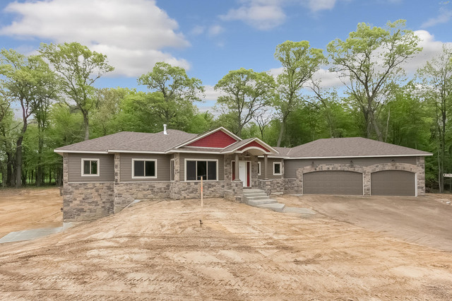 Custom home andover mn craftsman exterior for Home and landscape design andover mn