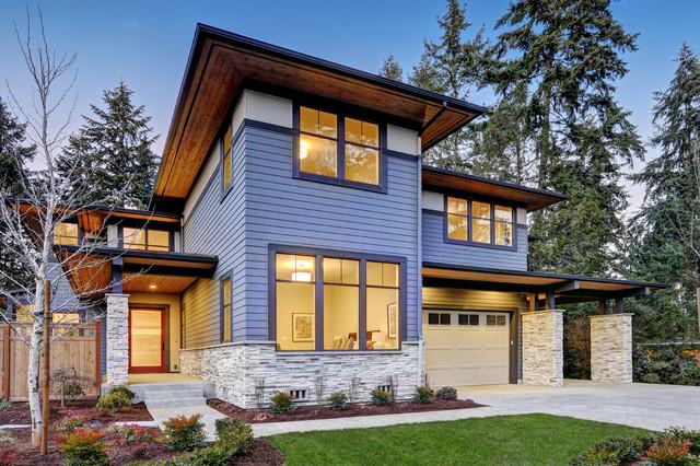 Custom Home Building Contemporary Exterior San