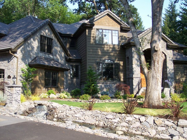Custom Home- Cherry Lane Lake Oswego, OR traditional-exterior