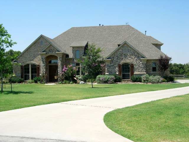 Custom Home Designs Traditional Exterior dallas by