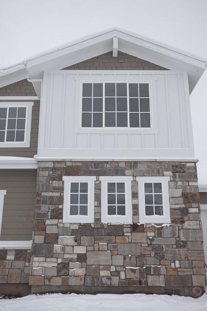 Custom home draper traditional exterior salt lake for Lp smartside board and batten