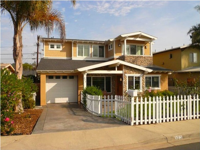 Inspiration for a timeless exterior home remodel in San Diego